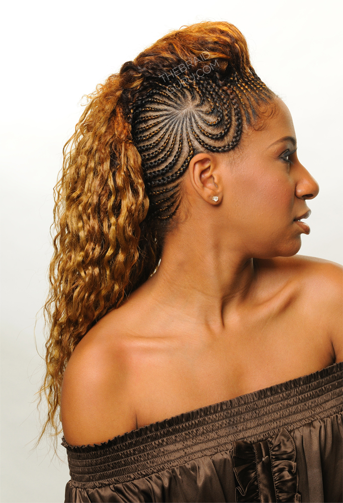 Feed In Cornrows Starburst Mohawk Right Side View Braids By Thebraidguru