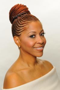 feed in cornrows braided into a ponytail or bun style hair is not ...